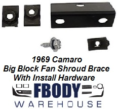 1969 Camaro Fan Shroud Bracket for Big Block Cars CHQ