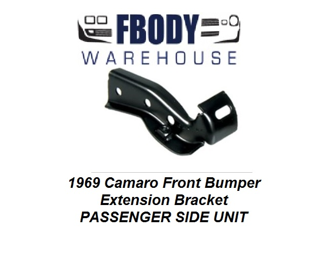1969 Camaro Front Bumper Extension Bracket R/H Passenger Side NEW