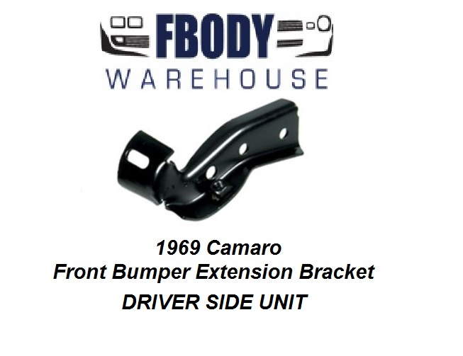 1969 Camaro Front Bumper Extension Bracket L/H Driver Side NEW
