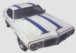 1969 Trans Am Body Stripe Decal / Stencil Kit