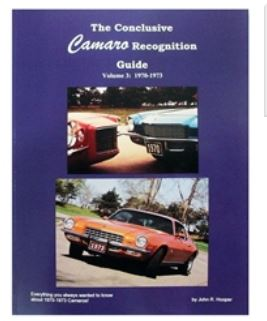 1970 - 1973  Camaro Buyers Guide Handbook By John R. Hooper.