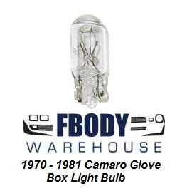 1970 - 1981 Camaro Glove Box Light Bulb