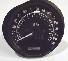 1970 - 1977 Firebird Trans Am 160 Speedometer Gauge GM Nice
