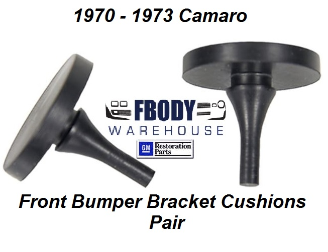 1970 - 1973 Camaro Front Bumper Bracket Cushions NEW Pair