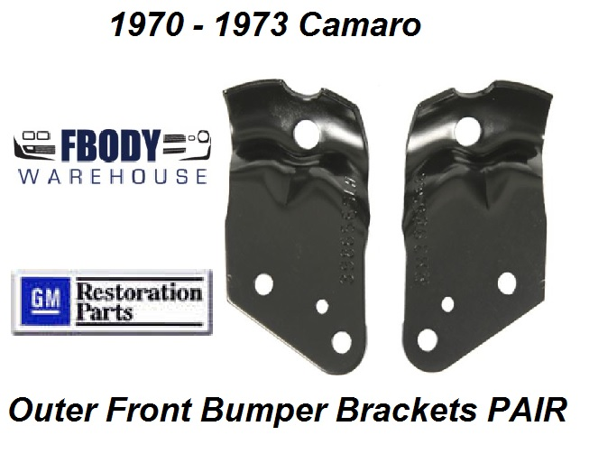 1970 - 1973 Camaro Front Bumper Outer Brackets PAIR