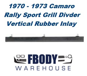 1970 - 1973 Camaro Rally Sport Center Grill Divider Rubber Inlay