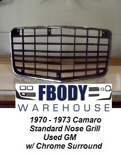 1970 - 1973 Camaro Front Grill Used GM