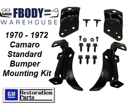 1970 - 1973 Camaro Nose Cone / Bumper Mounting KIT Standard Nose Cars 16 Pc