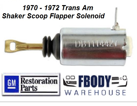 1970 - 1972 Trans Am Shaker Scoop Flapper Solenoid