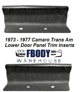 1973 - 1977 Camaro Trans Am Lower Door Panel Armrest Plastic Trim Inserts PAIR