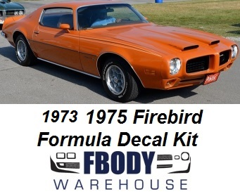 1973 - 1975 Firebird Formula Exterior Stripe Kit