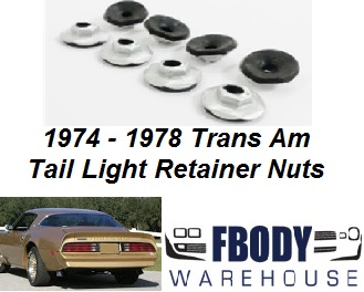 1974 - 1978 Trans Am Firebird Tail Light Retainer Nuts