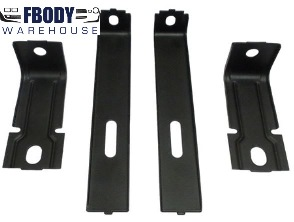 1974 - 1978 Trans Am Firebird Uppe & Lower Radiator Support Mounting Braces NEW 4 Piece Set