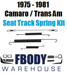 1975 - 1981 Camaro Trans Am Seat Track Spring Kit NEW