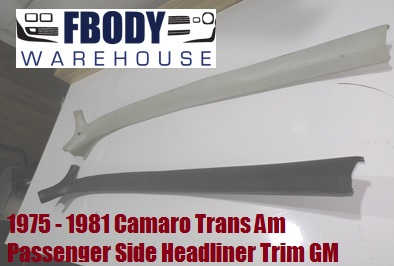 1974 - 1981 Camaro Trans Am Hard Top Headliner Trims GM Passenger Side