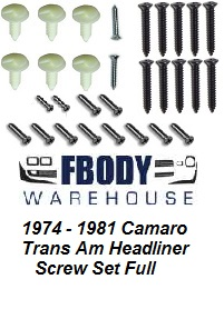 1974 - 1981 Camaro Trans Am Full Headliner Clip set