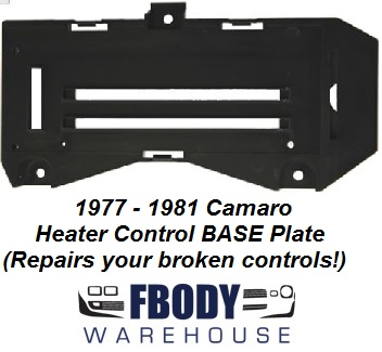 1977 - 1981 Camaro Heater Control BASE NEW For A/C & NON A/C Cars! Reapir your controls!