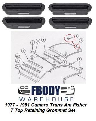 1979 1980 1981 Trans Am T Top Parts