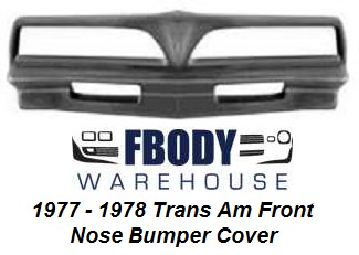 1977 - 1978 Trans Am Front Nose Cone Bumper Cover Urethane NEW