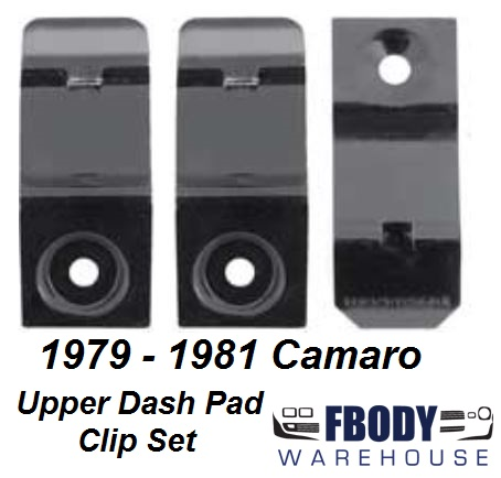 1979 - 1981 Camaro Upper Dash Pad Mounting Clip Set NEW