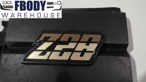 1980 - 1981 Camaro Z28 Fuel Door Emblem Gold NEW