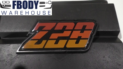 1980 - 1981 Camaro Z28 Fuel Door Emblem Orange NEW