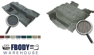 1982 - 1992 Camaro Trans Am Carpet Set Cabin and Hatch Carpet Kit Various Colors Available ACC