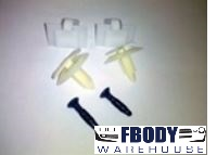 1982 - 1992 Camaro & Firebird Interior Pillar Post Hardware Set T-top & Convertible