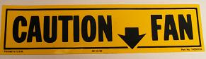 1967 - 1982 Camaro Engine Bay Caution Fan Decals