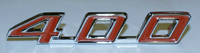 1967 - 1969 Firebird 400 Trunk Emblem