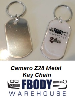 Fbodywarehouse Camaro Z28 Metal Key Chain LIMITED EDITION