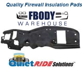 1967 - 1969 Camaro Firebird Firewall Insulation Pads 3 Styles Available - Quiet Ride Solutions