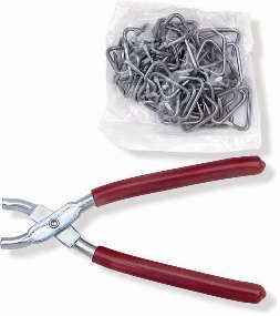 Seat Upholstery Hog Ring Set with Pliers (Hog Ring Tool) SET