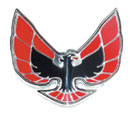 1974 - 1976 Trans Am RED Nose Crest Emblem