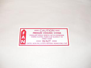 1967 - 1975 Camaro Engine Cooling System Decal