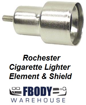 1968 - 1969 Camaro Cigarette Lighter Element & Shield Rochester