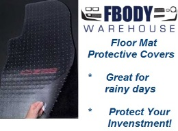 1967 - 2002 Camaro Trans Am Floor Mat Protective Covers