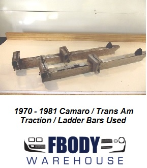 1970 - 1981 Camaro Trans Am Traction Bars Ladder Bars Used