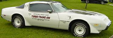 1980 Turbo Trans Am Indy 500 Pace Car Decal Kit STANDARD