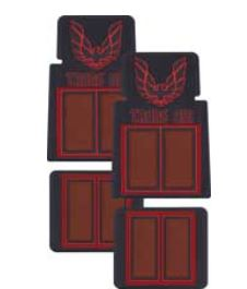 1967 1981 Trans Am Rubber Carpet Floor Mats