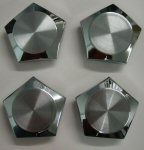 1972 - 1976 Pontiac Honeycomb Rim Center Caps Set of FOUR NEW