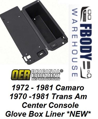 OER 478562 Reproduction Inner Console Glove Box Camaro//Firebird