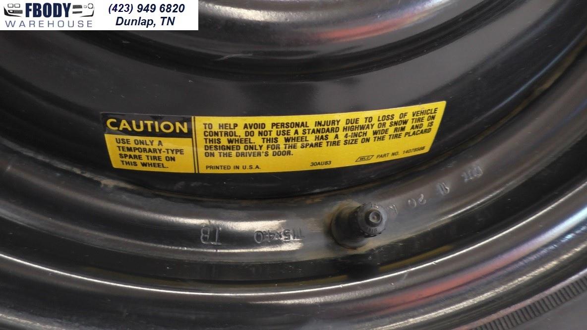 Fbodywarehouse Spare Tire Kit Gm Camaro Trans Am Firebird on Camaro Spare Tire Kit