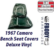 1967 Camaro DELUXE Bench Front Seat Covers Set