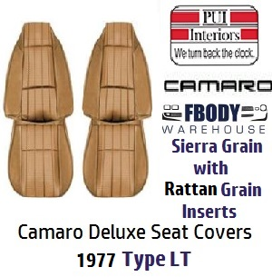 1978 Camaro High Back Seat Covers Deluxe Type Lt Vinyl Pui