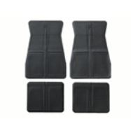 GM Logo Replacment Floor Mats 4 pc Set Rubber Style 5 Colors Available!