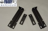 1979 - 1981 Firebird Trans Am Radiator Support to Nose Cone Bracket Set New 4pc (Upper & Lower) 10004324 10007410