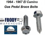 1964 - 1967 El Camino Gas Pedal Brace Mounting Bolt Kit