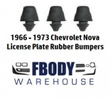 1966 - 1973 Nova License Plate Bumper Set NEW 3 pc [ clone ]