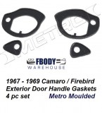 1967 - 1969 Camaro Firebird Exterior Door Handle Gaskets Metro Moulded